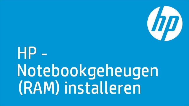 HP - Notebookgeheugen (RAM) installeren
