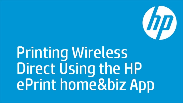 Printing Wireless Direct Using the HP ePrint home&biz App - HP LaserJet Pro M275