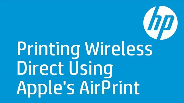 Printing Wireless Direct Using Apple's AirPrint - HP LaserJet Pro 100