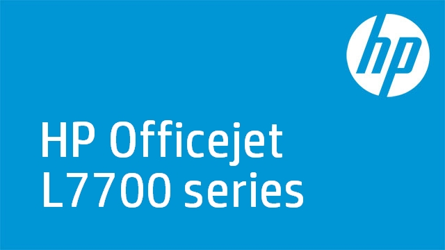 HP Officejet L7700 series