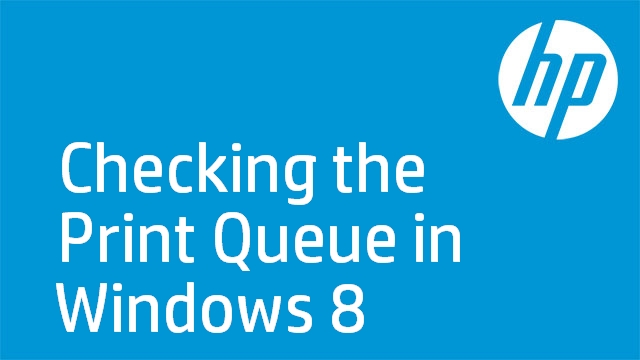 Checking the Print Queue in Windows 8