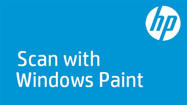 Scan with Windows Paint