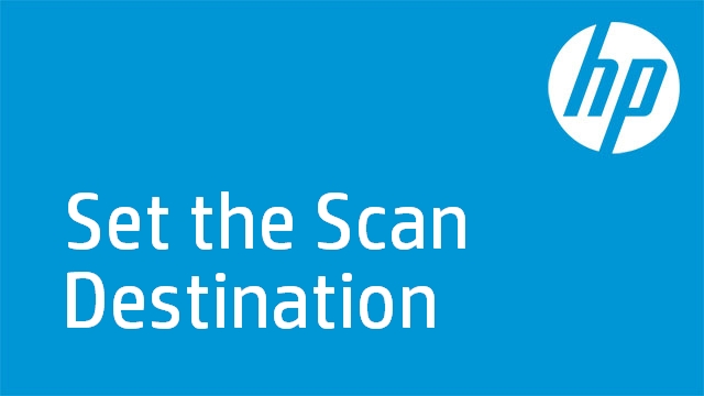Set the Scan Destination