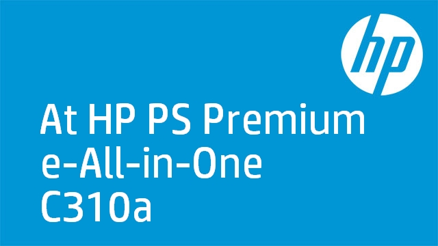 At HP PS Premium e-All-in-One C310a