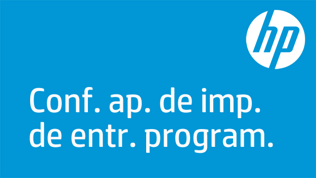 Conf. ap. de imp. de entr. program.