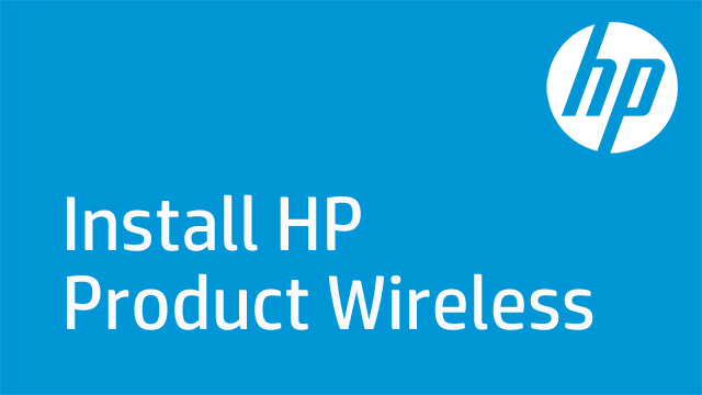 Install HP Product Wireless