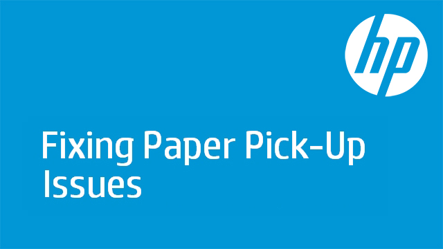 Fixing Paper Pick-Up Issues - HP Officejet Pro K5400 Printer
