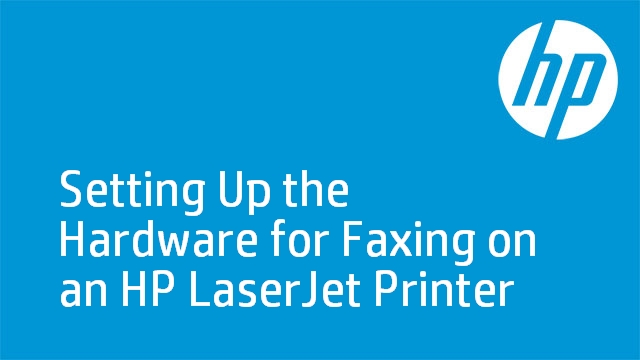 Setting Up the Hardware for Faxing on an HP LaserJet Printer