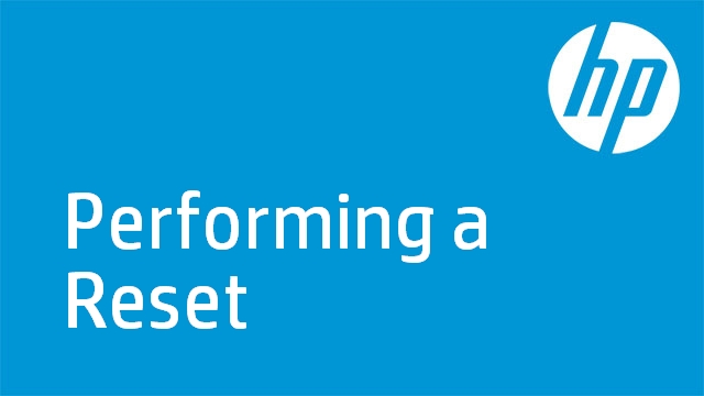 Performing a Reset - HP Officejet 6500 (E709)