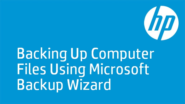 Backing Up Files On HP PCs