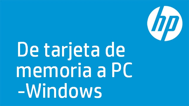 De tarjeta de memoria a PC -Windows