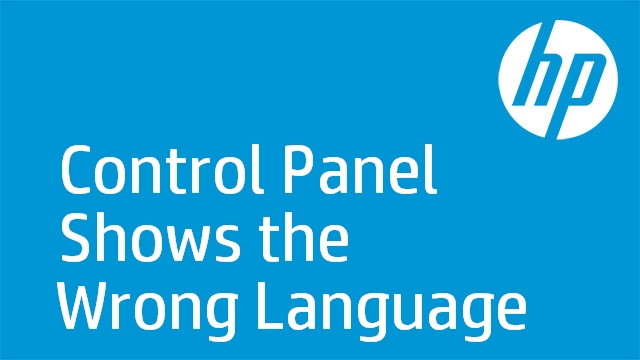 Control Panel Shows the Wrong Language - HP Officejet Pro 8600 e-All-in-One Printer