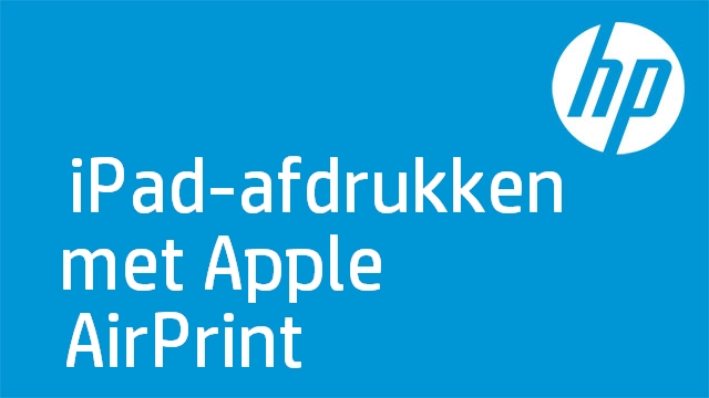 iPad-afdrukken met Apple AirPrint