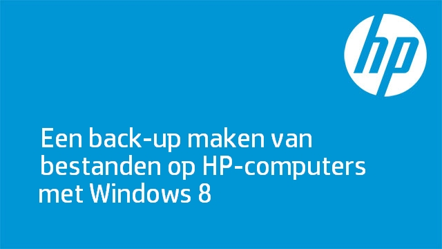 Een back-up maken van bestanden op HP-computers met Windows 8