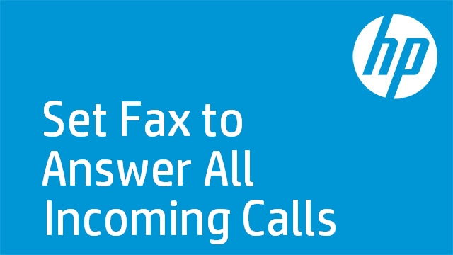 Set Fax to Answer All Incoming Calls - HP Officejet J4600