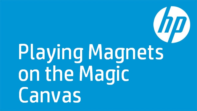 Playing Magnets on the Magic Canvas