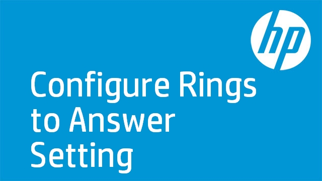 Configure Rings to Answer Setting