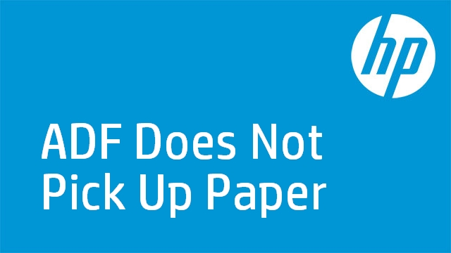 ADF Does Not Pick Up Paper - HP Officejet J4600