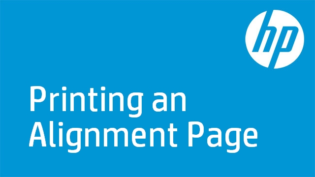 Printing an Alignment Page - HP Officejet J4600