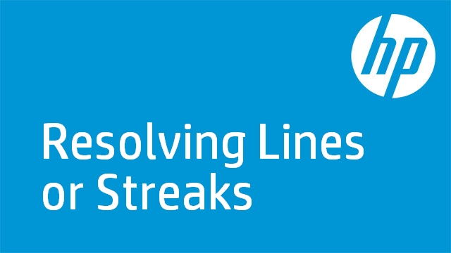 Resolving Lines or Streaks