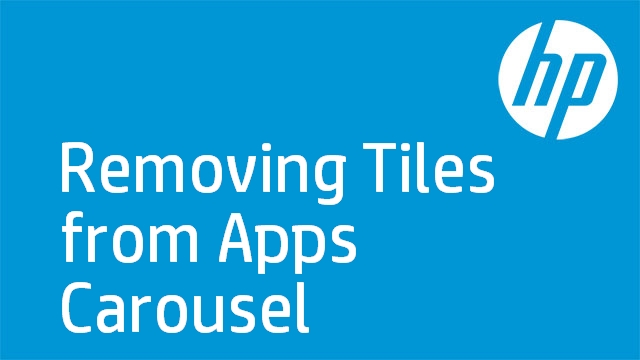 Removing Tiles from Apps Carousel