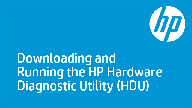 Downloading and Running the HP Hardware Diagnostic Utility (HDU)