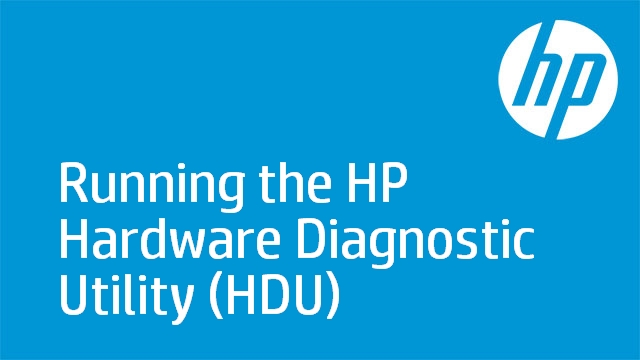 Running the HP Hardware Diagnostic Utility (HDU)