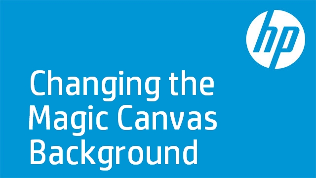 Changing the Magic Canvas Background