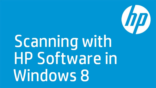 Scanning with HP Software in Windows 8