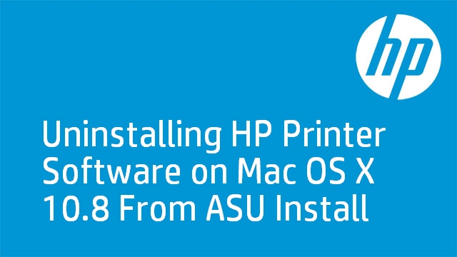 Uninstalling HP Printer Software on Mac OS X 10.8 From ASU Install