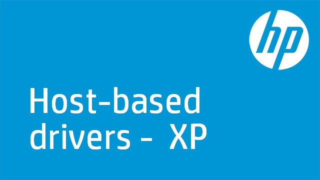 Host-based drivers -  XP
