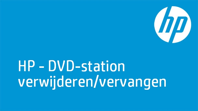 HP - DVD-station verwijderen/vervangen (G6-1a00 Series laptop-pc's)