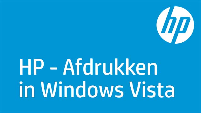 HP - Afdrukken in Windows Vista