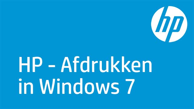 HP - Afdrukken in Windows 7