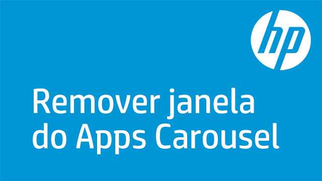 Remover janela do Apps Carousel