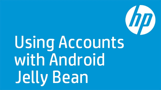 Using Accounts with Android Jelly Bean