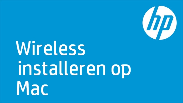 Wireless installeren op Mac