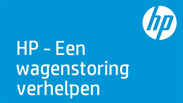HP - Een wagenstoring verhelpen (HP Officejet Pro K5400 Series)