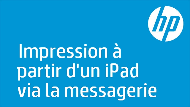 Impression à partir d'un iPad via la messagerie