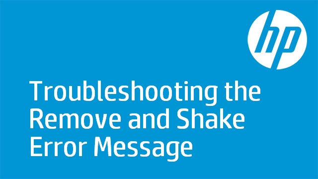 Troubleshooting the Remove and Shake Error Message - HP LaserJet CM6030/CM6040/CP6015