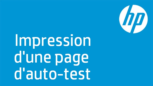 Impression d'une page d'auto-test (HP Officejet série 6300)