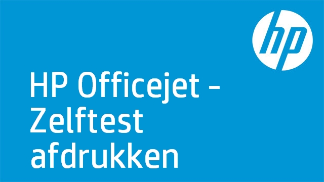 HP Officejet - Zelftest afdrukken (HP Officejet 6300 Series)