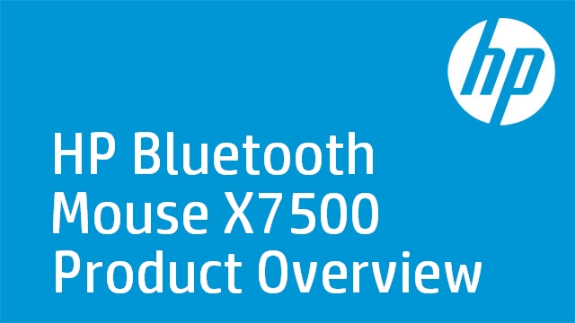 HP Bluetooth Mouse X7500 Product Overview