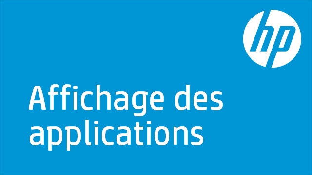 Affichage des applications - HP TouchSmart