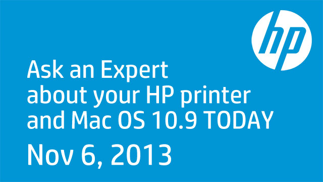 HP Expert Day Mac OS 10.9 - November 6, 2013