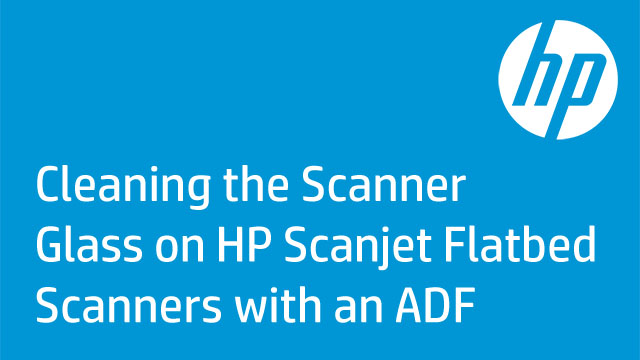 Cleaning the Scanner Glass on HP Scanjet Flatbed Scanners with an ADF