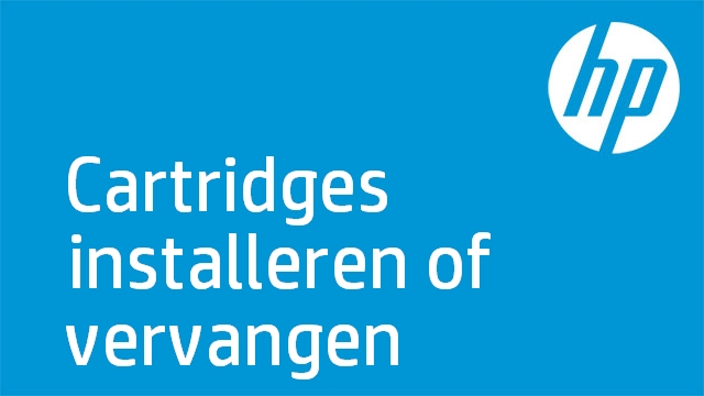 HP - Cartridges installeren of vervangen ('HP Officejet Pro 8000 A809 Series)