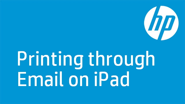 Printing through Email on iPad