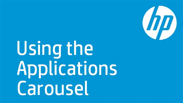 Using the Applications Carousel - HP TouchSmart 4.0