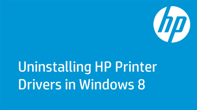 Uninstalling HP Printer Drivers in Windows 8